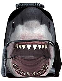 EssVita Niño Niña mochila casual 3D Animales Imprimir morral de la escuela bolsas para portátiles Mochila Senderismo