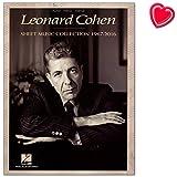 Leonard Cohen: Sheet Music Collection (1967-2016)-Álbum de Song libro para Piano, Voz, Guitarra con Bunter herzförmiger Ordenador Pinza