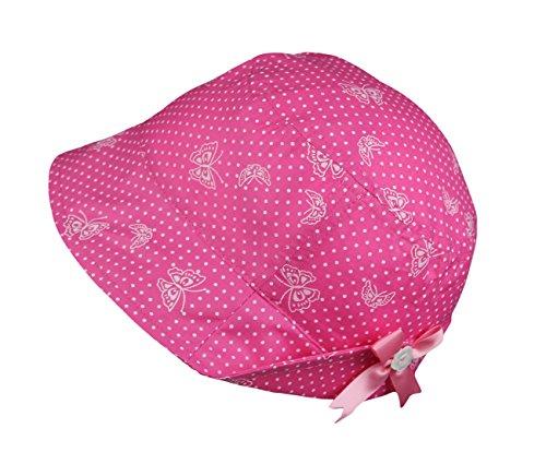 Galeja Mädchenhut Sommermütze Sonnenhut 100% Baumwolle verdeckte Bindebändchen Pink Gr. 50 Mädchenmütze (Piraten-baseball-jersey)