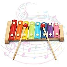 Xilófono Juguetes Kid nota musical 8 octava xilófono piano del golpe de la música creativa para niños en edad preescolar juguetes