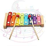 Xilofono Kid 8 Nota musicale Giocattoli xilofono Octave piano di colpo musica creativa per bambini in età prescolare Giocattoli immagine