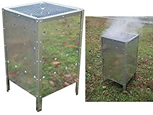 Unibos Large Square Incinerator Fire Bin Garden Rubbish Burning Trash Bins Galvanised Metal 90 Litre  by Unibos
