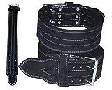 Lisaro KDK Power Gürtel. Dreikampf Gürtel, Heavy Duty Gewichtheber Gürtel, Lever Crossfit Training Gürtel schwarz (XXL)