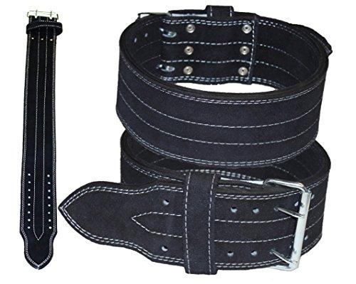 Lisaro KDK Power Gürtel. Dreikampf Gürtel, Heavy Duty Gewichtheber Gürtel, Lever Crossfit Training Gürtel schwarz (S)
