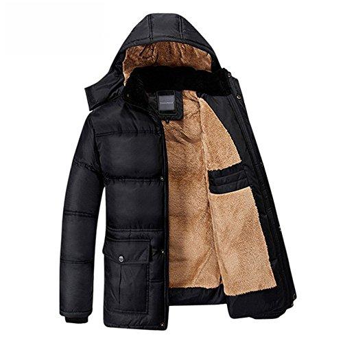 CRAVOG Winterjacke Herren Daunenjacke mit Fleece Futter Wärmejacke Baumwollmischung Kurze Mantel Winter Warme Hoodie Sweatjacke