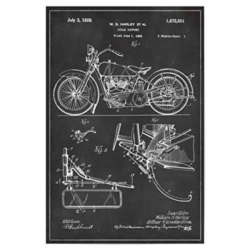 Sport Vintage Poster (artboxONE Poster 60x40 cm Sport/Motorsport Retro Motorrad patent - Bild Motorrad Retro Vintage)