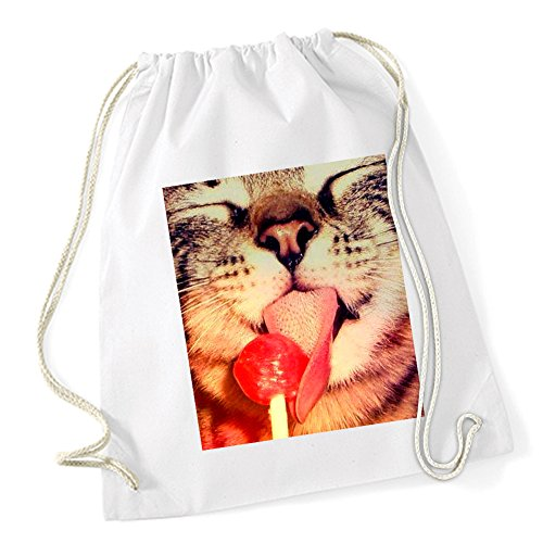 Certified Freak Lolipop Cat Sac De Gym Blanc