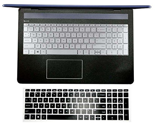 bingobuy Handauflage Aufkleber Aufkleber (2er Pack) + Tastatur Schutzfolie Cover Haut für HP 15-cd 15-cc 15-cb 15-bs 13-ad Serie 15-CD*** matte black