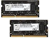 G.Skill 8GB DDR3-1600 módulo de - Memoria (8 GB, 2 x 4 GB, DDR3, 1600 MHz, 204-pin SO-DIMM)