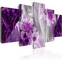 murando - Cuadro en Lienzo 200x100 cm - Flores - Abstraccion - Impresion en calidad fotografica - Cuadro en lienzo tejido-no tejido - Azucena a-C-0047-b-p