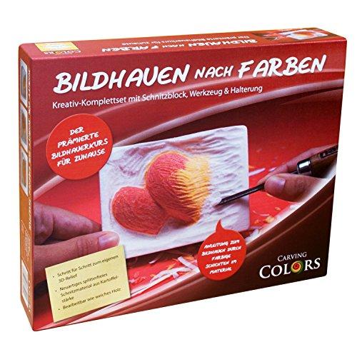 """Preisvergleich Produktbild Schnitzen / Bildhauen nach Farben - Bildhauerkurs für Kinder und Erwachsene --- Reliefmodell """"Zwei Herzen"""""""