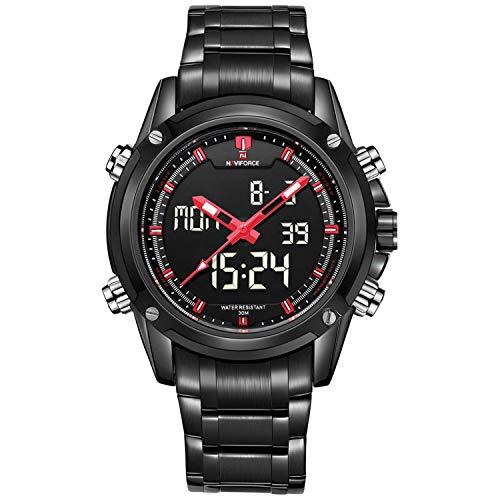 6fc8d1c6e455 Relojes Analógicos Digitales Para Hombres. Relojes De Pulsera De Acero  Inoxidable a Prueba De Agua