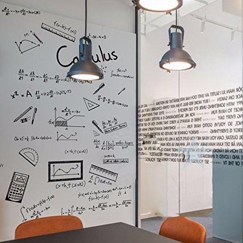 HCCY High-School-Mathe Klasse Differentialgleichungen Wandaufkleber Bürowanddekor Bildungseinrichtungen kreative Aufkleber Unterrichten personalisierte Aufkleber Kinderzimmer Schlafzimmer Küche, schwarz, groß