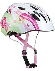 Mujer con Diseño de Cratoni Akino–Casco de bicicleta Fay Blanco/Rosa brillante, talla M/53–58cm