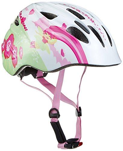 Cratoni Mädchen Fahrradhelm Akino, Fay White/Pink Glossy, 49-53 cm, 112203B1