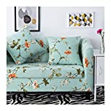 WUFANGFF Slipcover Frühling Blumenmuster Stretch Sofa Gestrickter Stoff Schonbezug Couch Covers Sofa Furniture Protector, 1Seat