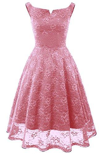 Victory Bridal Damen Elegant Spitzenkleid Spitze 1950er Vintage Prom/Ballkleider Abendkleider...