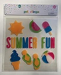 Summer Theme Summer Fun Gel Window Clings - 30 Piece