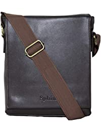 SPHINX Artificial Leather Long flap Cross-body Regular Sling Bag for men/boys - Dark Brown (L x B x H: 25 x 22 x 7 cm)