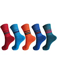 RC. ROYAL CLASS Boys and Girls Quarter Length Cotton Terry Cushion Socks (0 - 8 Years pack of 5 pairs)