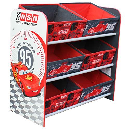 s Lightning McQueen Toy Organizer Kids Storage Aufbewahrungsboxen Kinderregal 6 Boxen ()