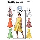 Butterick B4443 - Cartamodello per abito donna, taglie forti 48-50-52-54, 1 pz, colore bianco