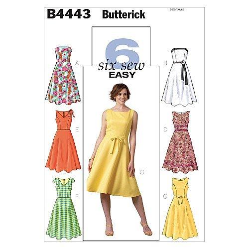 05eff83bac05 Butterick B4443 - Cartamodello per abito taglie forti 48-50-52-54 1
