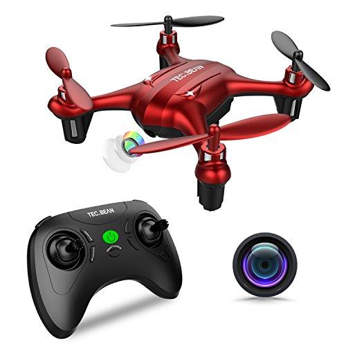 TEC.BEAN Sparrow GD90-C Mini Anfängerdrohne mit 720P HD Kamera, Anfängerdrohne für Kinder mit Schwebefunktion und Kopflosmodus, Taste zum Starten und Zurückkehrtaste (Spielzeug Predator-drohne)