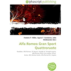 Alfa Romeo Gran Sport Quattroruote: Roadster, Alfa Romeo, FR layout, Straight-4, Straight engine, Alfa Romeo Twin Cam engine, Drum brake, Alfa Romeo Giulia, Alfa Romeo 6C, Zagato
