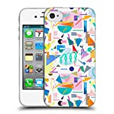 Head Case Designs Offizielle Ninola Collage Pop Weiss Geometrisch Soft Gel Hülle für iPhone 4 / iPhone 4S