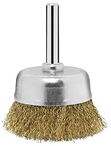 Bosch 2609256516 Brosse boisseau pour Perceuse M14 Fils ondulés laitonnés 6 x 50 mm