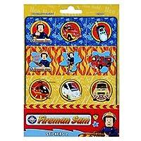 Fireman Sam Sticker Sheet with 12 Stickers Sticker & Decoration