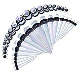 BodyJ4You Starter kit dilatatori orecchio maculati, forma conica con guarnizione da 1,6 a 10 mm, confezione da 36 pezzi e Acciaio inossidabile, colore: Radiance Aurora, cod. GK0165-AB