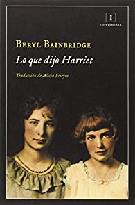 Lo Que Dijo Harriet par Bainbridge