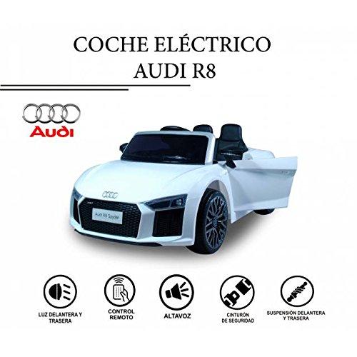 Elektroauto Audi R8 Spyder Sport weiß für Kinder