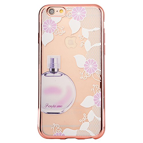 Apple iPhone 7 4.7 Hülle, Voguecase Schutzhülle / Case / Cover / Hülle / TPU Gel Skin (Bunt Herzen 08) + Gratis Universal Eingabestift Parfüm Blumen