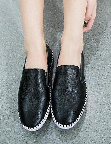 Chaussures Femme Shangyi - Mocassins - Loisirs / Décontracté - Confortable / Bout Arrondi - Plat - Tissu - Noir / Blanc Noir