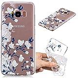 BONROY Samsung Galaxy S8 Plus (6,2 Zoll) Hülle, Gemalt Series Transparent Weiche Silikon Schutzhülle TPU Bumper Case für Samsung Galaxy S8 Plus (6,2 Zoll) - (HC-Magnolie)