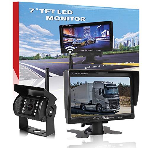 """CAR ROVER Cámara de Reserva de Camiones Inalámbricos Sistema de Aparcamiento con 7""""HD TFT Monitor"""