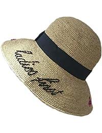 Funytine Cappello di Paglia per Donna Primavera   Estate Cappello di  Protezione Solare per Uncinetto Lafite 9dfe11a7c406