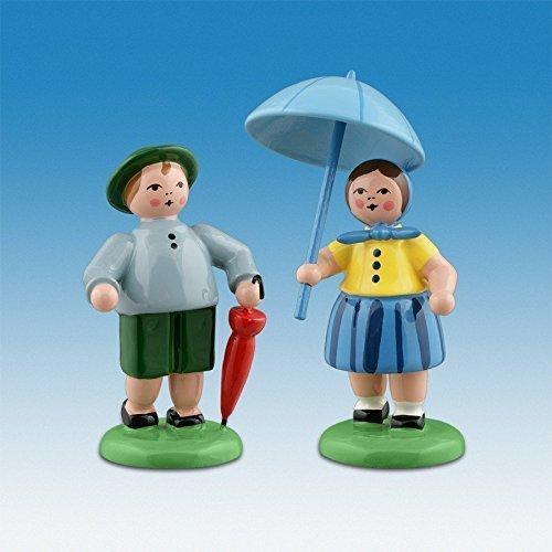 Bauernpaar mit Schirm