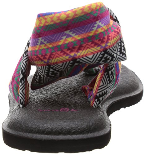 Sanuk Wmn Sandalo Yoga 2 stampe motivo tribale, colore: magenta/multicolore magenta/multi tribal stripe
