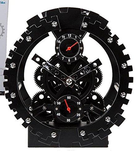 Tischuhr Getriebe Metall Retro Wecker Uhr Ritzel -