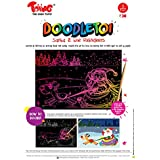 Toiing Doodletoi Christmas Magical Colourful Scratch Art Drawing Papers