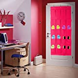 Colleer® praktische Ordnungssysteme an der Tür mit 20 Taschen/Türregal, Hängeorganizer, Hängeaufbewahrung, Schuhschränke, Multifunktionale Aufbewahrungstasche (20-Pink)