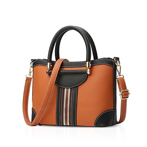 NICOLE&DORIS Damen Handtaschen Crossbody Tasche Umhängetasche Reisetasche PU Braun Braun