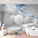 Fototapeten 3D - Blau 352 x 250 cm Vlies Wand Tapete Wohnzimmer Schlafzimmer Büro Flur Dekoration Wandbilder XXL Moderne Wanddeko - 100% MADE IN GERMANY - Runa Tapeten 9182011a