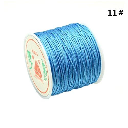 Teabelle 1rollo cordón nailon trenzado 0,8mm