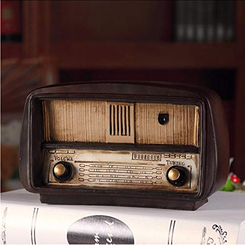 Ganjue Estilo Europeo Resina Radio Modelo Retro Adornos