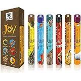 Serie alegría superiores naturales de Incienso - 20 palos por caja - usarlo en casa o lugar de trabajo - seductor aroma palos - Pack de 6 palos de fragancias Crear Pacífica Aura todo alrededor